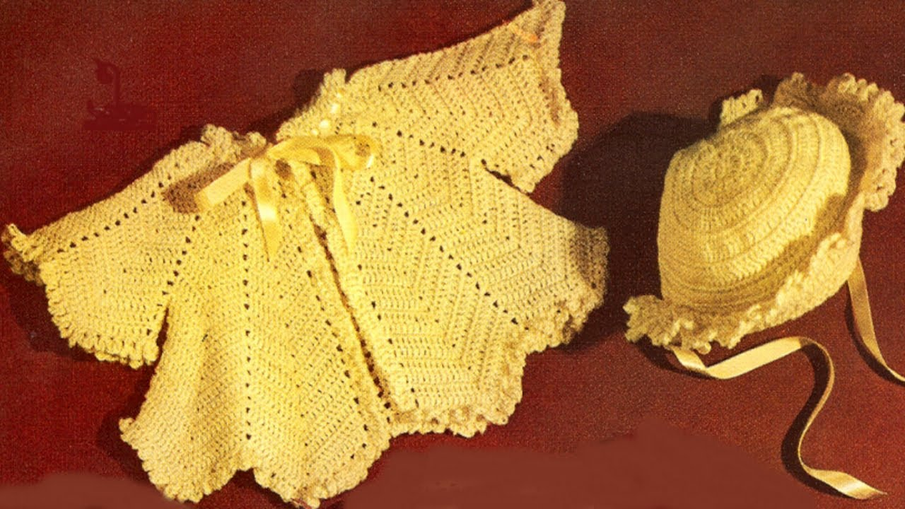 Crochet Baby Sweater Sets Youtube