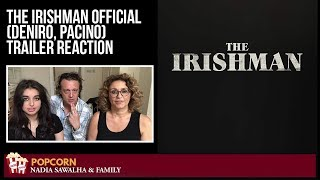 The Irishman OFFICIAL TRAILER (DeNiro, Pacino) Nadia Sawalha & The Popcorn Junkies Reaction