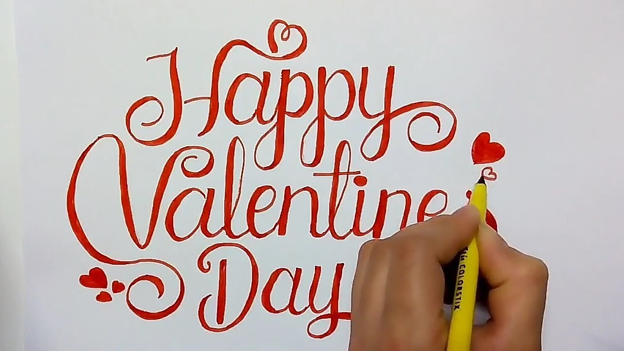 How To Write Happy Valentines Day In Fancy Letters Youtube