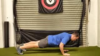 Push Up   Yoga w Opposite Toe Reach