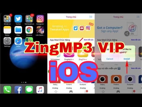 Hướng dẫn cài ZingMp3 VIP cho iOS (miễn phí & có phí) nhanh gọn trực tiếp trên điện thoại| Hiếu Kiwi