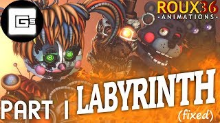[FIXED](FNAF/SFM) Labyrinth REMAKE [Part 1] - CG5 - Roux36 Animations