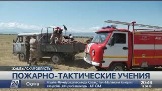 Природный пожар тушили в Жамбылской области
