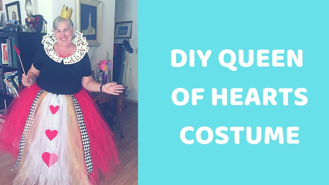 Diy Queen Of Hearts Costume No Sewing Required