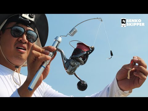 CRAZY LOOKING MICRO FISHING ROD Catches Almost Every Species!