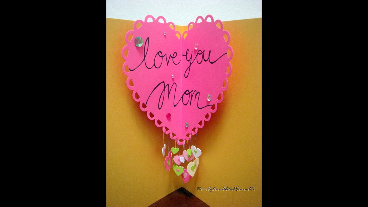 mother s day pop up heart card youtube