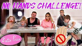 KATIE PRICE: FAMILY NO HANDS EATING (FOOD FIGHT!)