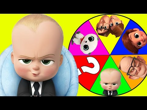 Boss Baby Movie Spin The Wheel Game Part 3 with Spiderman & Paw Patrol Toys, Slime | Ellie Sparkles