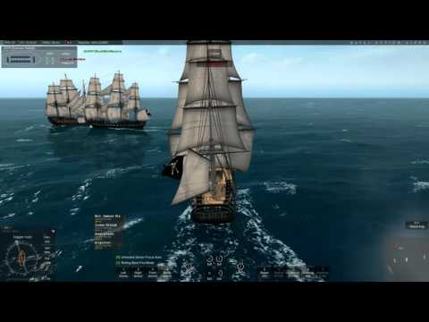 PvP - Taking down Ships of the Line (Naval Action)