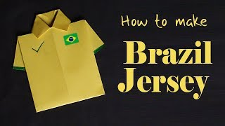 Brazil Jersey 2018 - How to make Brazil Jersey - Paper Crafts