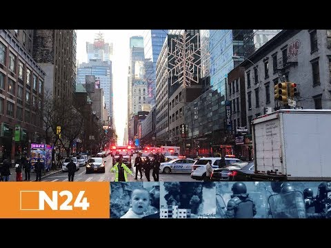 Explosion nahe Times Square: Großeinsatz von Polizei und Feuerwehr im New Yorker Stadtteil Manhattan