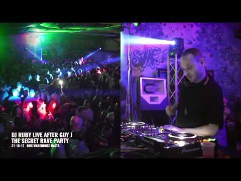 DJ Ruby Live Video set after Guy J at The Secret Rave, BMX Warehouse Malta 21-10-17