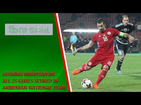 Henrikh Mkhitaryan all 25 goals scored in Armenian National Team