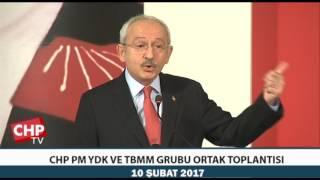 CHP PM YDK VE TBMM GRUBU ORTAK TOPLANTISI 10/02/2017