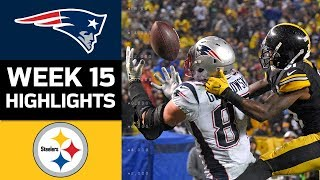 Patriots vs Steelers  NFL Week 15 Game Highlights