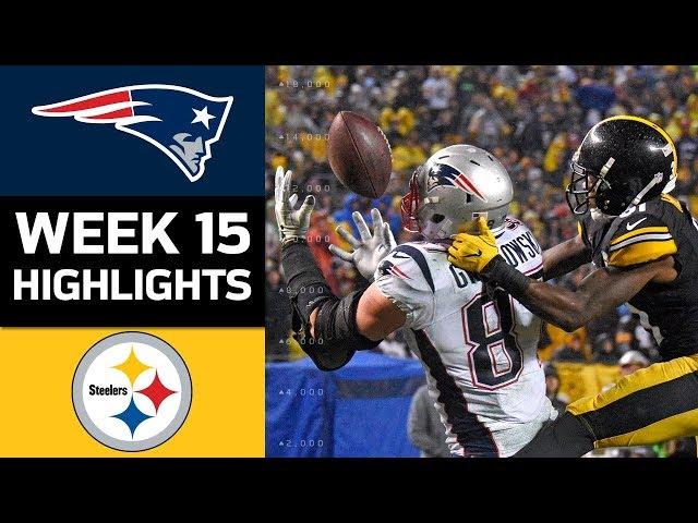 Patriots vs. Steelers | NFL Week 15 Game Highlights