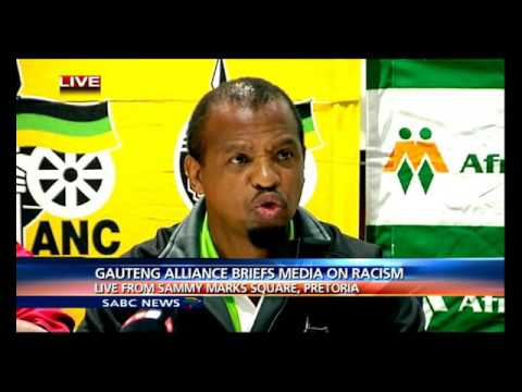 Gauteng Alliance briefs media on racism, 28 Feb 2016