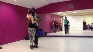 Видео с открытого урока  Тьерри Деа и Анна Ли - Кизомба. Dance Studio 25.5
