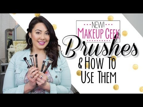 new makeup geek brushes and how to use them  makeup geek