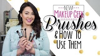 NEW Makeup Geek brushes and how to use them! | Makeup Geek