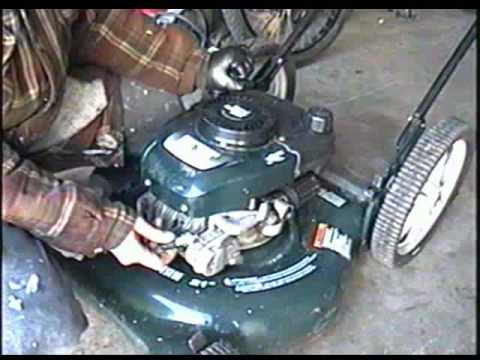 how to get tire off of a yardman push mower