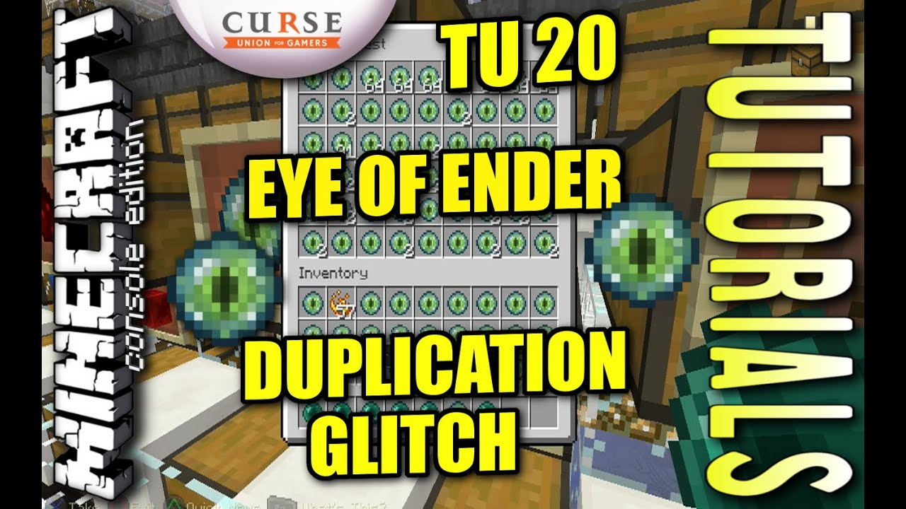 Minecraft PS4 - TU20 - EYE OF ENDER DUPLICATION GLITCH - How To - Tutorial  - ( PS3 / XBOX )