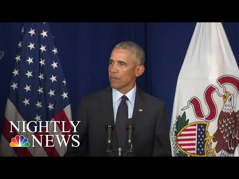 Barack Obama Takes On President Donald Trump For First Time Since Leaving Office | NBC Nightly News