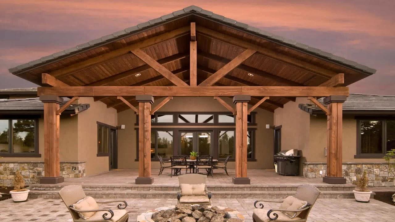gable patio roof ideas youtube