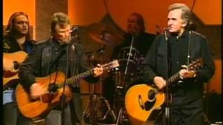 Johnny Cash and Kris Kristofferson - Big River (live 1993)
