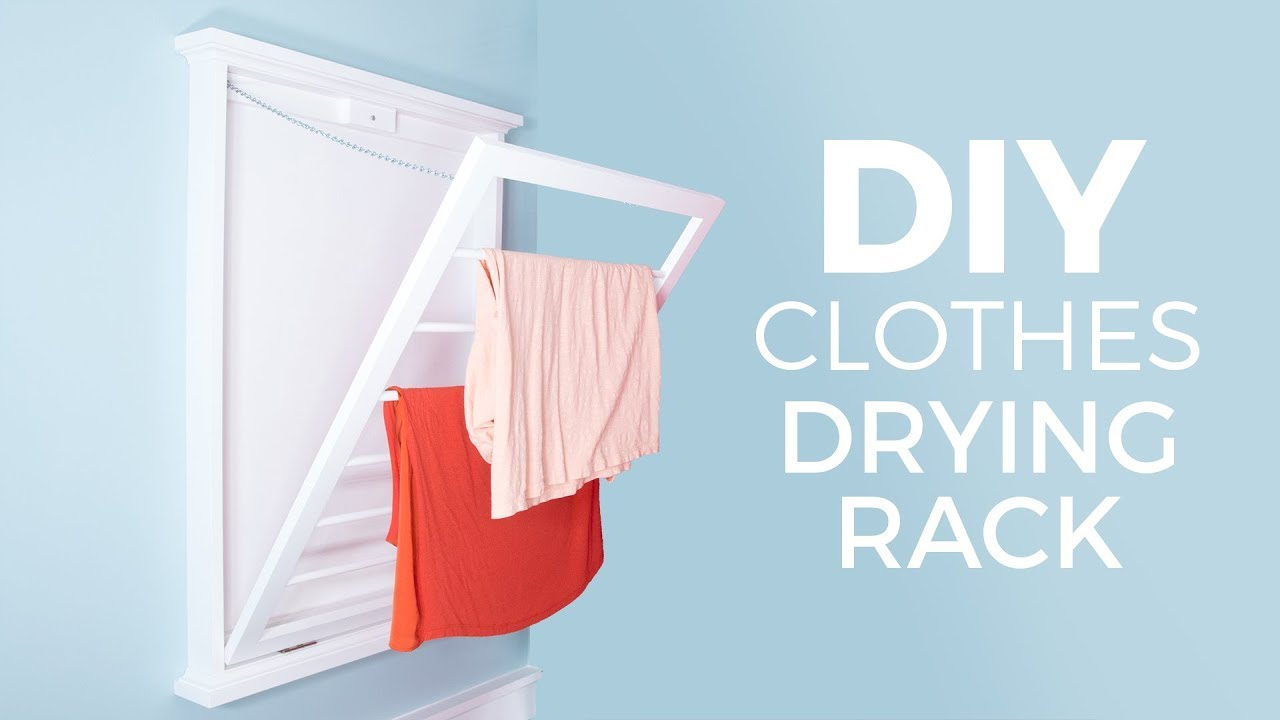 diy clothes drying rack how to make