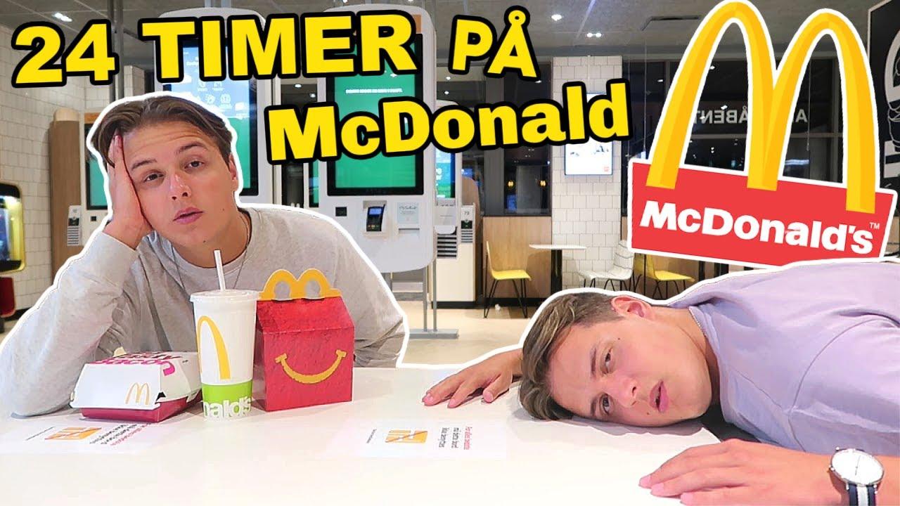 24 TIMER på McDonald!! | 24 Timers Challenge