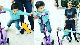 Taimur Ali Khan Rides Tricycle And Falls Badly In Front Of Mom Kareena Kapoor Khan