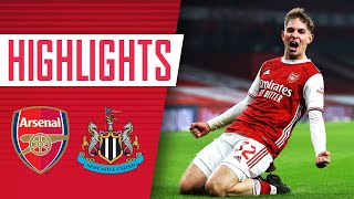 HIGHLIGHTS | Arsenal vs Newcastle Utd (2-0) | Smith Rowe and Aubameyang | Emirates FA Cup