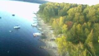Fall Sunset Flight Over The Lake With Rc Plane