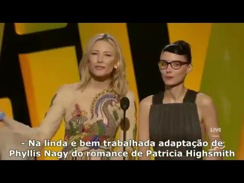 Cate Blanchett e Rooney Mara apresentando 'Carol' (Legendado)