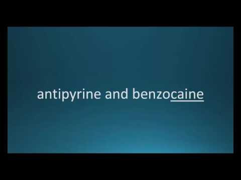 How to pronounce antipyrine / benzocaine (Auralgan) (Memorizing Pharmacology Video Flashcard)
