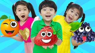 Yummy Yum Fruits Song | Suri and Friends Nursery Rhymes & Kids Sing-Along Songs