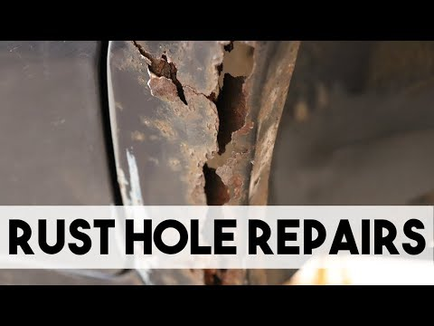 HOW TO REPAIR RUST HOLES IN BODY PANELS, SHEET METAL WELDING