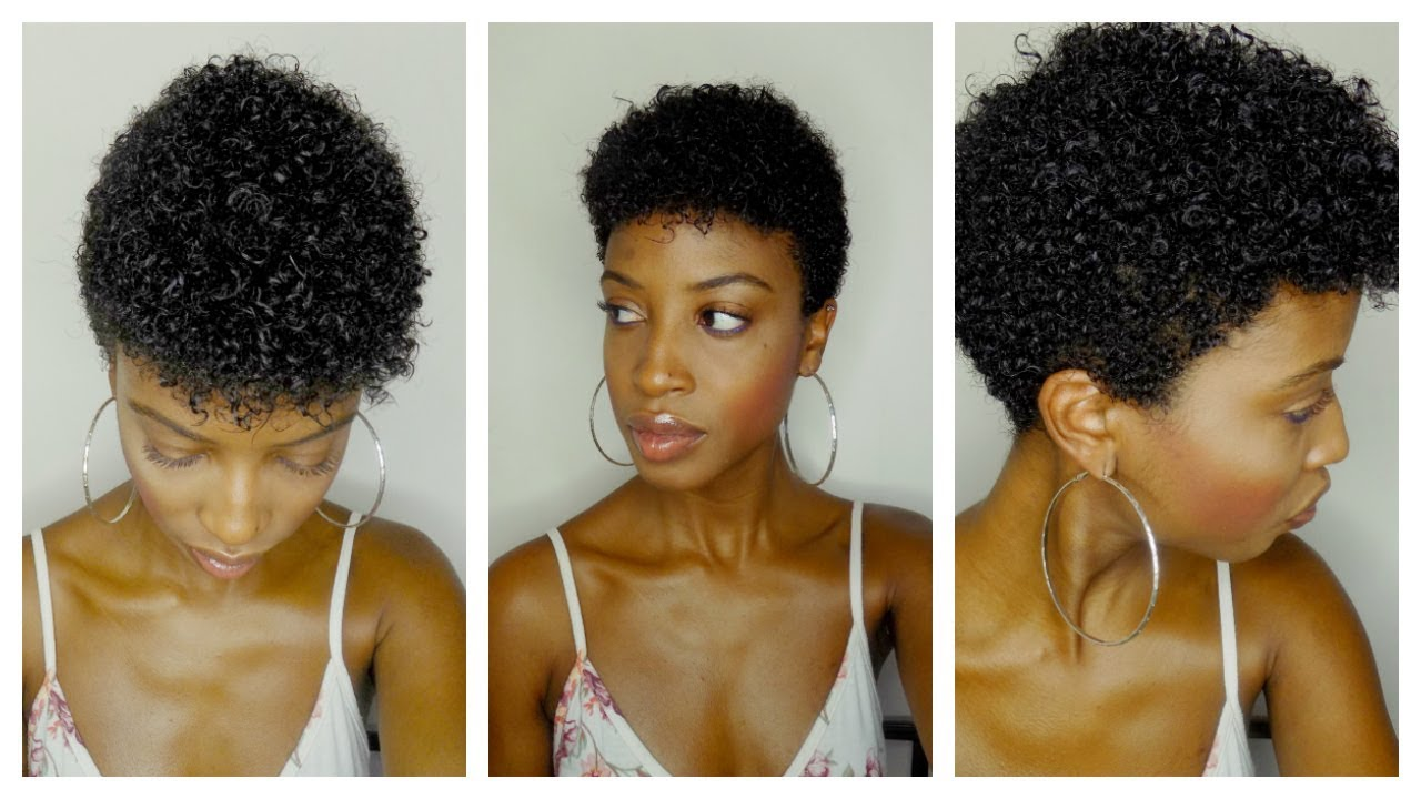 wash + go routine for short tapered natural hair / big chop | type 4 hair