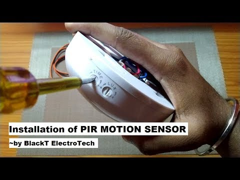PIR Motion Sensor Installation BlackT Electrotech Detector in Hindi