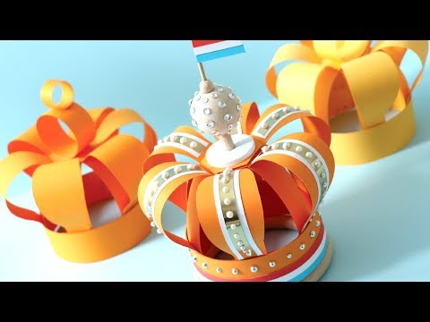 How to Make a Paper Crown for Birthday | Kingsday | Celebration!