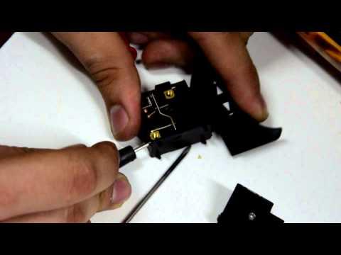 видео: Восстановим кнопку от шлифмашинки