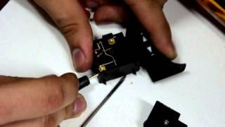 Восстановим кнопку от шлифмашинки
