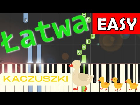 🎹 Kaczuszki (Chicken dance) - Piano Tutorial (łatwa wersja) (EASY) 🎹