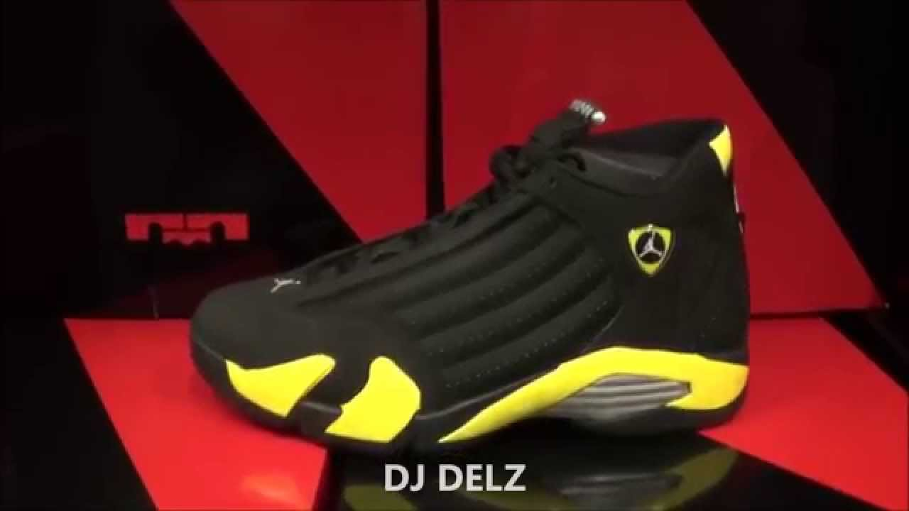 e2d3d6cd5d7c13 Air Jordan 14 Thunder Shoe Review Black Vibrant Yellow XIV Sneaker Review