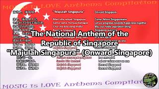 Singapore Natiional Anthem With Music, Vocal And Lyrics Malay W/chinese/english Translation