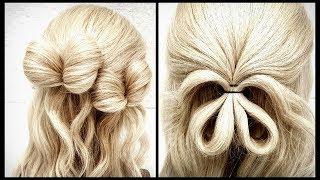 Бантики из резинок.Проще простого!Красивые прически пошагово.Fast hairstyle. Detailed video