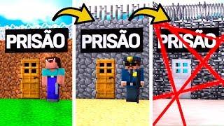 DE PRISÃO NOOB A PRISÃO PRO NO MINECRAFT ! (VOCÊ CONSEGUE ESCAPAR DESSA PRISÃO?)