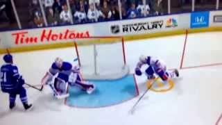 NHL 14 - Jeff Petry Flies Into The Net and Gets Stuck!