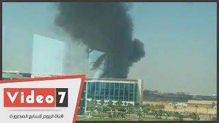 حريق هائل خلف القرية الذكية بمدينة 6 أكتوبر